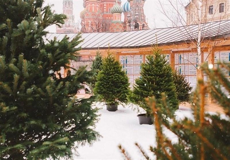 بارش برف مصنوعی در مرکز مسکو