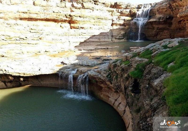 آبشار زیبا و رویایی چشمه گوش در پلدختر، عکس