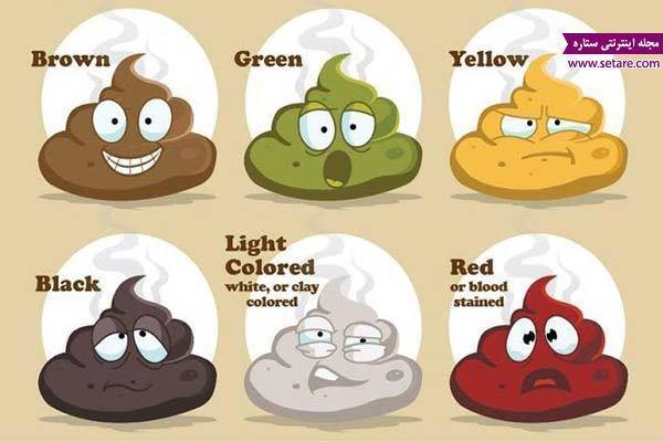 مدفوع تیره رنگ یا کم رنگ و مدفوع خونی نشانه چیست؟
