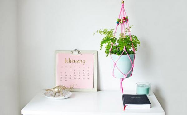 به راحتی آویز گلدان های شیک و ارزان بسازید